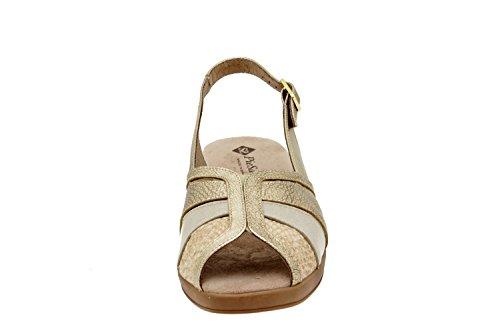 Piesanto Modelo 2156 - Sandalias confort de cuero para mujer Cava