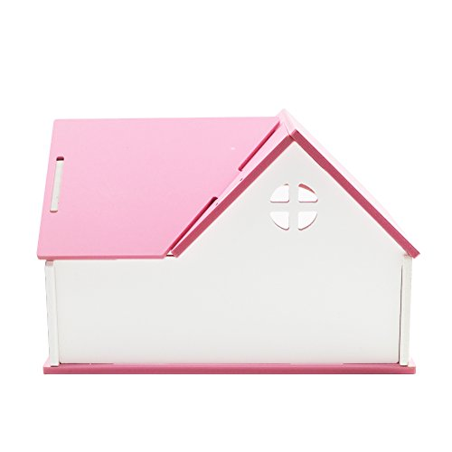 OMEM Hamster House Small Animal Hideout, Pet Mini Hut,Hamster Cabin,Hamster Cages,Portable Hamster Room, Pet Wooden Toys,Pet Hamster Toys by OMEM (Image #2)