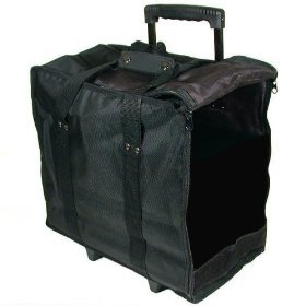 Jewelry Tote (Jewelry Display Black Carrying Case w/ Wheels & Handle)
