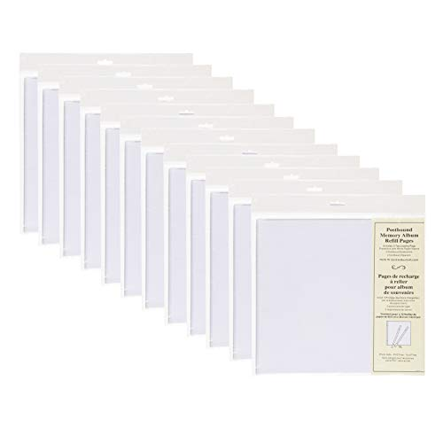 (DesignOvation Postbound 12x12 Memory Scrapbook Refill Pages 5 Pack, Set of 12 )