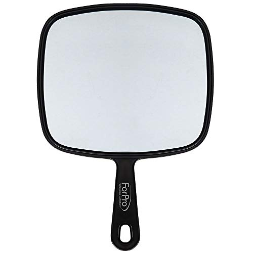 "ForPro Large Hand Mirror, Black, 9"" W x 12"" L ()"