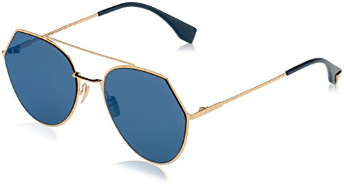 Fendi Women's Aviator Sunglasses, Rose Gold/Blue, One - Fendi Glasses Women
