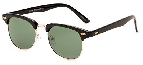 sunglass-warehouse-whistler-324-black-gold-frame-with-green-lenses-unisex-browline-sunglasses