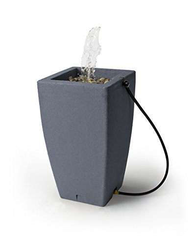 - Algreen Products Madison Rain Barrel Fountain 49-Gallon, Charcoalstone