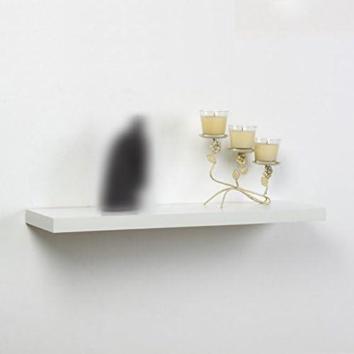 GRJH® ラック、壁に棚ワードパーティションの本棚テレビの壁面ラミネートボード白 防水性と耐久性 ( サイズ さいず : 120*23*4cm )