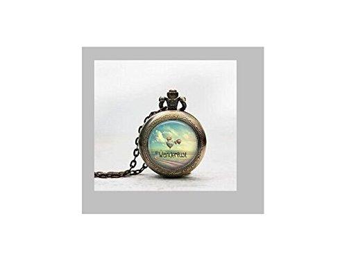 Wanderlust ciondolo orologio da tasca mongolfiera collana
