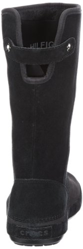 Crocs Berryessa Tall Suede Boot - Botas planas, color: Marrón Nero (Black/Black)