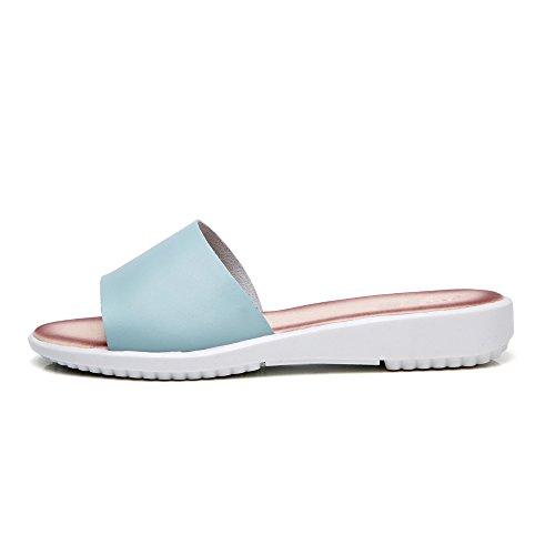 Blue Slip Home Fashion Babouche House Anti Slide For Sandal Slipper Vivident Sandal Bath Indoor Women's gfxwA0Znq6