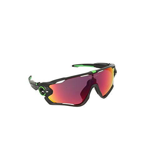 Oakley Men's Jawbreaker 0OO9290 Non-polarized Iridium Rectangular Sunglasses, CAVENDISH POLISHED BLACK, 31 - Jawbreaker Oakley