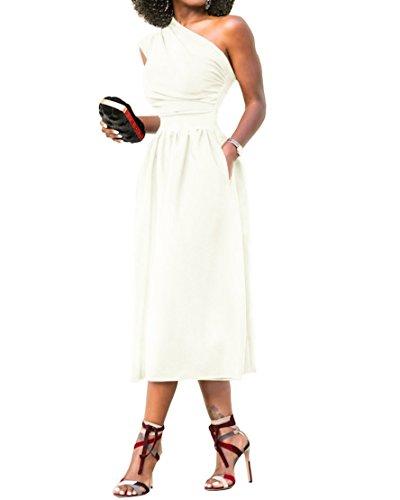 Womens One Shoulder Dress Elegant Summer Sexy Formal Evening A Line Midi Dresses