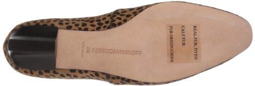Rebecca Minkoff Womens Mabry Flat Tan Cheetah Print