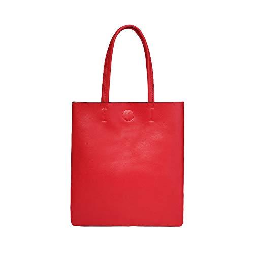 Xuanbao Memoria femminile delle donne Borsa a tracolla della borsa dell'abbonato delle donne Borsa semplice della borsa di Joker di modo Borse a tracolla Borsa a tracolla Totes (Colore : Grigio) Rosso