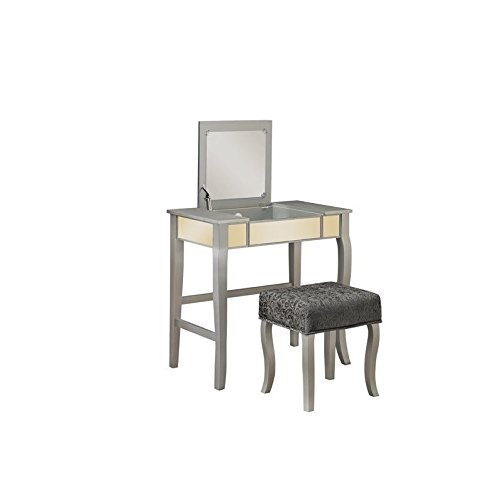 Riverbay Furniture Bedroom Vanity Set in Silver by Riverbay Furniture