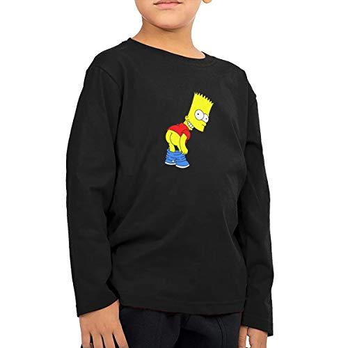 (Bart Simpson Children's Cotton Long Sleeve T-Shirt Toddler Tshirt Boys & Girls Tee for Kids)