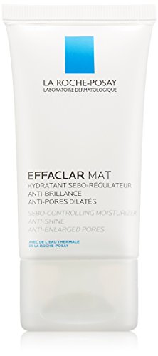 La Roche-Posay Effaclar Mat Oil-Free Facial Moisturizer for Oily Skin to Mattify Skin and Refine Pores, 1.35 Fl. Oz.