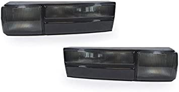 Fits Black 87-93 Ford Mustang Full LED Tail Lights Lamps Left+Right