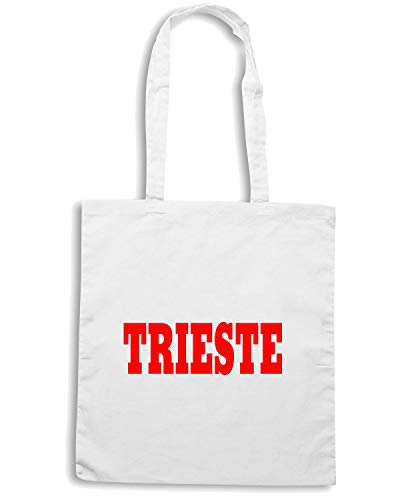 Speed Shirt Borsa Shopper Bianca WC0882 TRIESTE ITALIA CITTA STEMMA