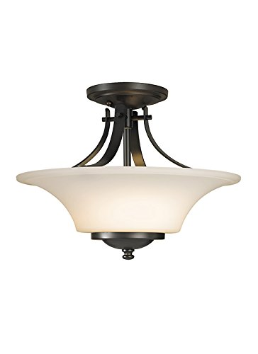 Murray Feiss SF241ORB Barrington 2 Light Indoor Semi-Flush Mount, Oil Rubbed Bronze (Fixture Flush Semi Ceiling Mission)