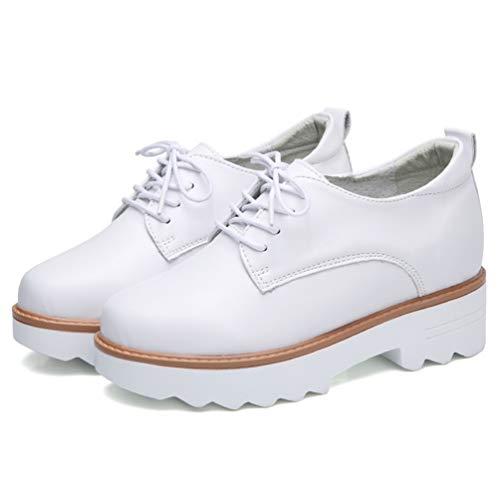 Occasionnelles Compensée Chaussures Dames Pour En Poule forme Mariage Lacets Plate De Daim Confortable Blanc Chaussure À Femmes Sneakers qP5SnXw
