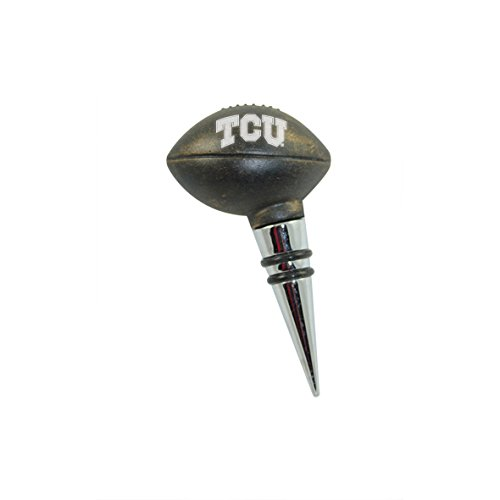 Texas Christian Vintage Football Bottle Stopper by The College Artisan