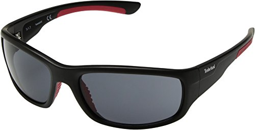 Timberland  Men's TB7145 Matte Black/Smoke One - Timberland Mens Sunglasses