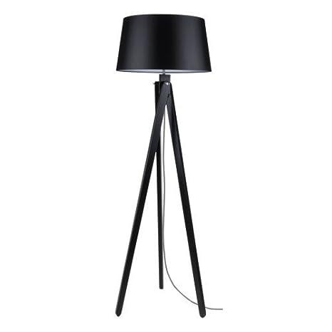 Bauhaus – Lámpara de pie (en negro, altura 155 cm, 3 secciones con