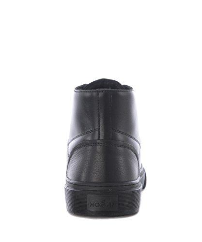 Hogan Homme HXM3400J560HNY0XCR Noir Cuir Baskets Montantes