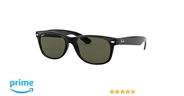 d82d3ea9135d2 Amazon.com  Ray-Ban New Wayfarer Sunglasses (RB2132) Black Green Plastic