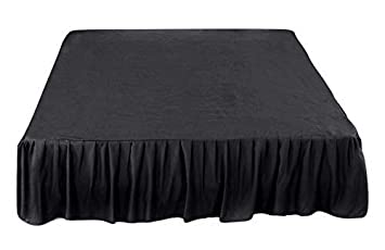 Black Bed Skirt King Size.Amazon Com The Great American Store Gathered Ruffled Bed