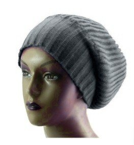 new-unisex-knitted-satin-lined-slouch-beanie-grey-red