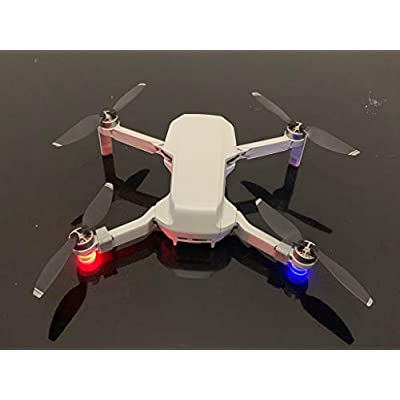 Novania Drone LED Strobe Lights, Aircraft UAV Locator Navigation Lamps Compatible with DJI Mavic Mini, Quadcopter Anti-Collision Flash Lighting, Location Indicator Night Cruise Flight Kit (Black): Toys & Games