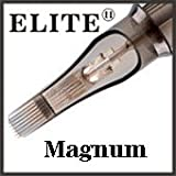 ELITE II Tattoo Needle Cartridges - 7 Curved Magnum Open Tip - Regular Tight - Box of 20