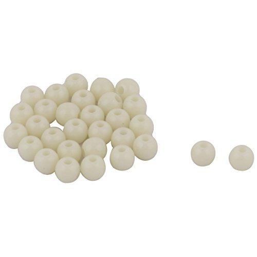 eDealMax 5 mm Ronde Fluorescent perles en Forme Plastique vert Pour 30pcs de pche