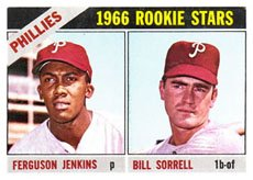 - 1966 Topps Regular (Baseball) Card# 254 Fergie Jenkins/Bill Sorrell of the Philadelphia Phillies Good Condition