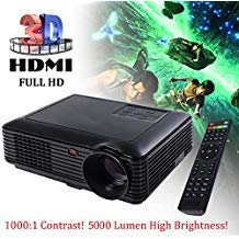 (5000 Lumens HD 1080P Home Theater Projector 3D LED Portable SD HDMI VGA USB New)