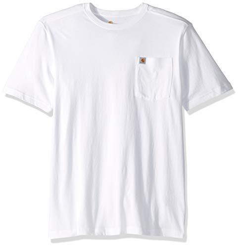 Carhartt Men's Big and Tall Big & Tall Maddock Pocket Short-Sleeve T-Shirt, White, Large