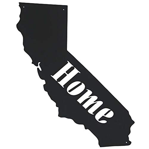 (Memory Mats & Word Art US States Decorative Wall Signs, Vacation & Destination Geographic Graphic Plaque (California Outline))