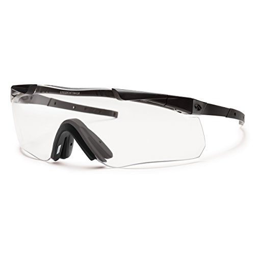 Smith Optics Elite Aegis Echo II Compact Eyeshields Sunglass with Black Frame and Clear/Gray ()