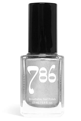786 Cosmetics Brunei - (Silver) Vegan Nail Polish, Cruelty-Free, 11-Free, Halal Nail Polish, Fast-Drying Nail Polish, Best Silver Nail Polish (Best Silver Metallic Nail Polish)