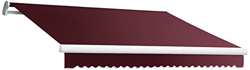 Awntech Retractable Awnings (Awntech 8-Feet MAUI EXE Model Manual Retractable Awning, 8-Feet Wide by 7-Feet Depth, Burgundy)