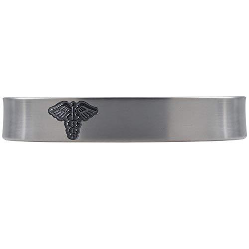 Divoti Deep Custom Laser Engraved Premier Pure Titanium Medical Alert Bracelet -6