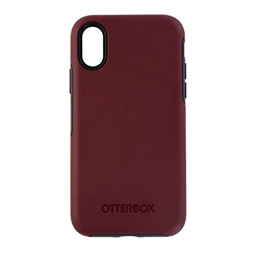 OtterBox Symmetry Series Hybrid Case Cover for Apple iPhone 10 X - Dark Red/Gray