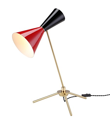 Stilnovo AMZLBT079BLKRED Kyrkogrand Table Lamp