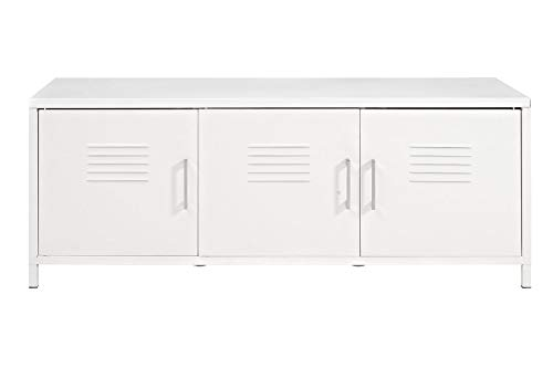 WE Furniture AZM48LSWH Storage Bench, White