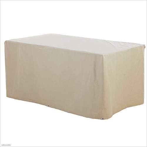 家具カバー ガーデン家具カバー、テラス家具カバー防水、テラステーブルカバー籐家具カバー屋外機械設備カバー、複数のサイズが利用可能、ベージュ (Color : Beige, Size : 130x130x90cm)