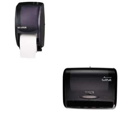 KITGEP58470SJMR3500TBK - Value Kit - Georgia Pacific Automatic Towel Dispenser (GEP58470) and San Jamar Duett Standard Bath Tissue Dispenser (SJMR3500TBK)