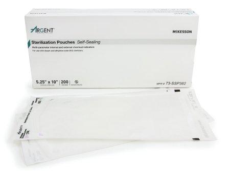 McKesson Sterilization Pouch 5.25''X10'' - Box of 200 - Model 73-ssp382
