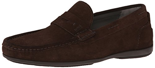 Hugo Boss Boss Black Mens Florios Slip-On Loafer Dark Brown Hap1RQr