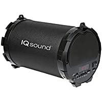 Supersonic IQ-1328BT Rechargeable Speaker with FM/USB/SD/AUX IN/LED Display/Bluetooth - BLACK