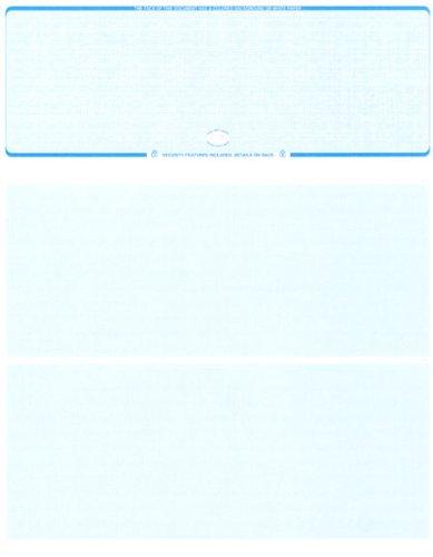 500 Laser Check Stock – Blank Laser Checks – Top Laser Check - Blue Linen